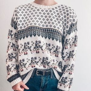 Western Connection Vintage Knit Christmas Sweater